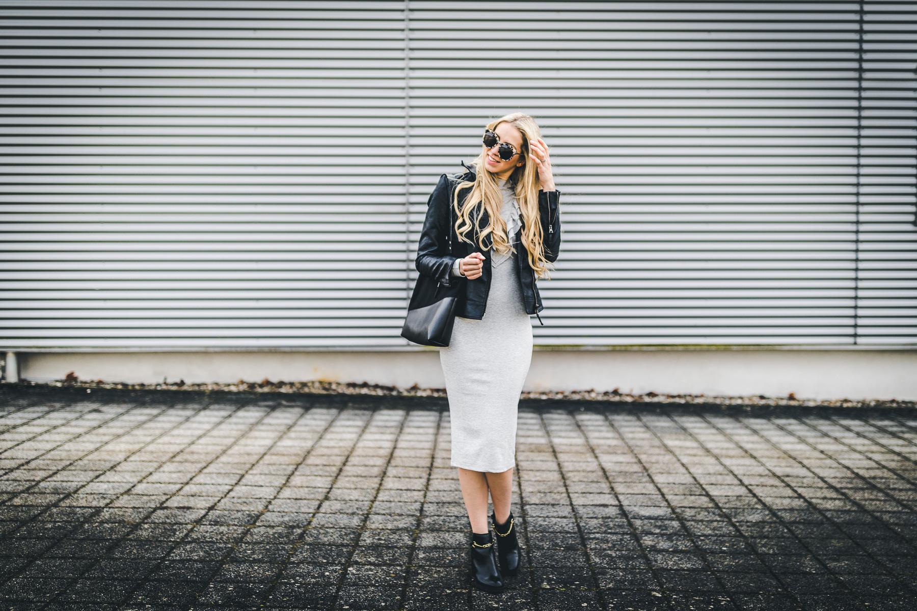 Tahti Bags Thuya Rüschen Kleid H&M grau jersey TK Maxx Boots Fritze aus Preussen Gentile Monster Brille Sonnenbrille Lockenstab Grundig Fashionblog Saarland Saarbrücken Homburg Modeblog Streetstyle
