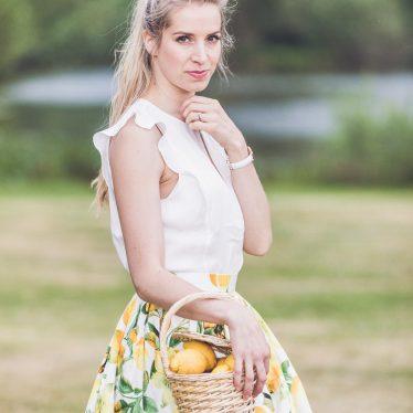 Trendreport: Lemon Print – Hallhuber Zitronenrock