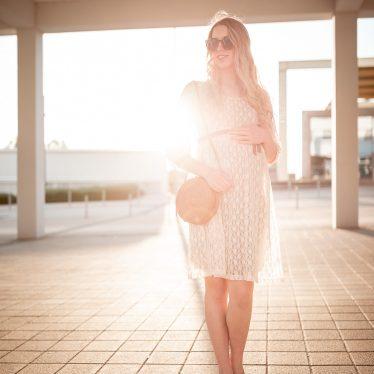 Schwangerschaft: 8.Monat- Maternity Look mit Spitze
