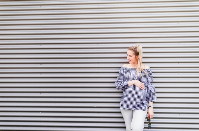 Baby Bump Update SSW 36 + Schwangerschaftslook mit Carmenbluse