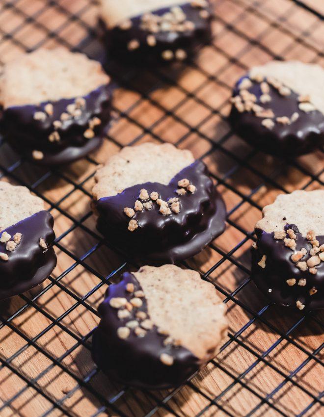 Weihnachtsbäckerei: Nougat-Schoko-Plätzchen