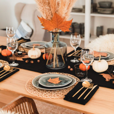 Herbstliche Tischdeko – Halloween – Thanksgiving mit FORK YOU