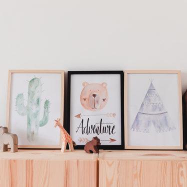 Aquarelle fürs Kinderzimmer mit Tombow + Download Bilder